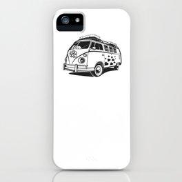 Love van wv 60s hippie surf iPhone Case