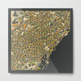 BARCELONA MAP Metal Print