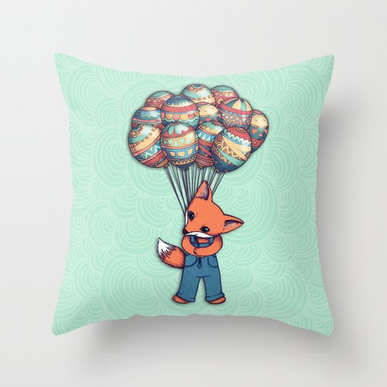 A Bunch of Balloons for my Baby Throw Pillow