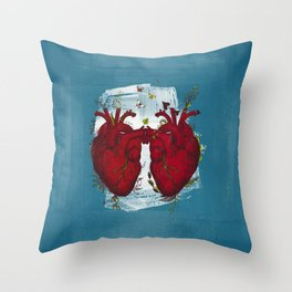 two hearts beating as one Throw Pillow