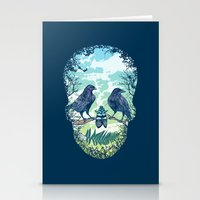 skull Stationery Cards featuring Nature's Skull by Rachel Caldwell