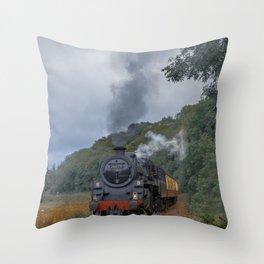 Steam Trains Throw Pillow