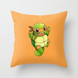 TMNT_POKET_MONSTER_orange Throw Pillow