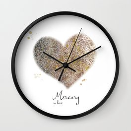 Mercury in love Wall Clock