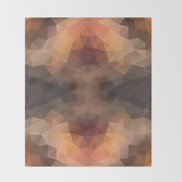 Kaleidoscopic design in soft brown colors Throw Blanket