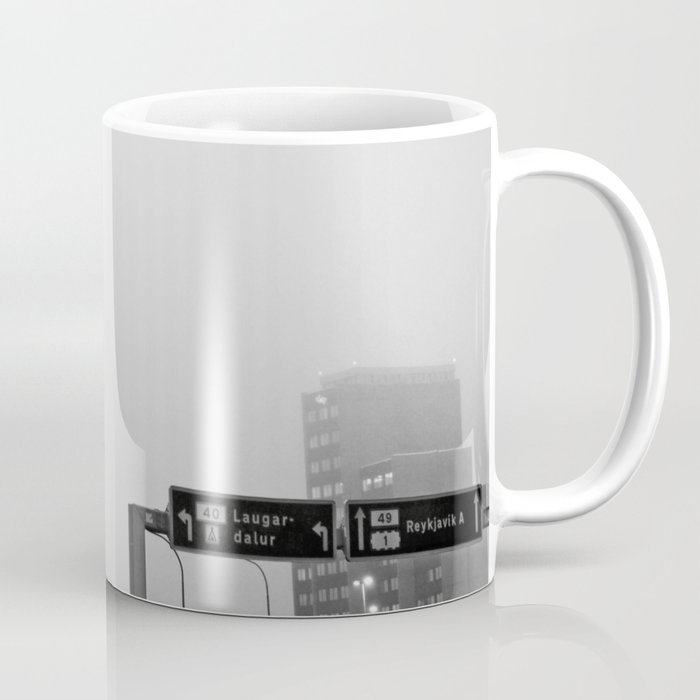 Reykjavík in the mist 2 Coffee Mug
