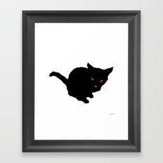 Staring Cat Framed Art Print