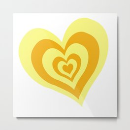 yellow heart infinity Metal Print
