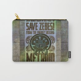 Save Zebes! Metroid Geek Art Vintage Poster Carry-All Pouch