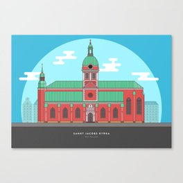 Stockholm - Sant Jacobs Church Canvas Print