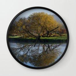 Tree Reflection Landscape Wall Clock
