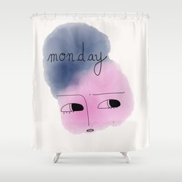 Monday 1 Shower Curtain
