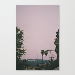 Rainy Hollywood - a rare sight Canvas Print