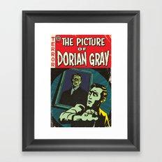 Oscar Wilde's Dorian Gray: Vintage Comic Cover Framed Art Print