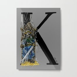 K is for Dead King Metal Print
