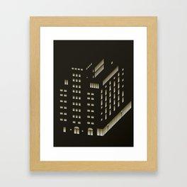Ohlerich Speicher bei Nacht Framed Art Print