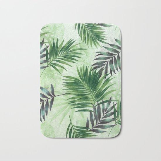 Palm leaves IV Bath Mat