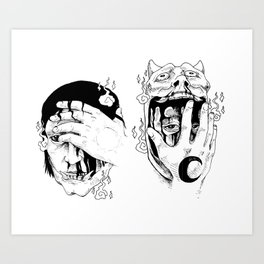Consuming Night and Day Art Print