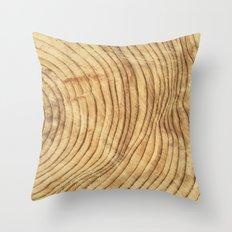 Tree Rings IV Throw Pillow