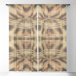 Mid Century Leopard in Tropical Forest Sheer Curtain