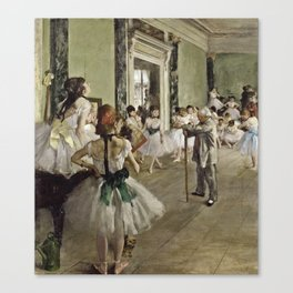 Edgar Degas - The Ballet Class Canvas Print