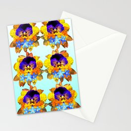 Royal Pansy Stationery Cards