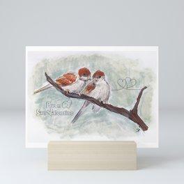 Bird in S.Valentino Mini Art Print