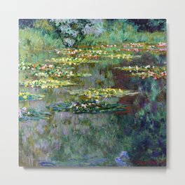 Claude Monet Pond of Water Lilies Metal Print