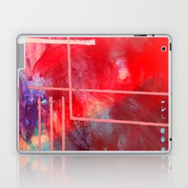 Jubilee: a vibrant abstract piece in reds and pinks Laptop & iPad Skin
