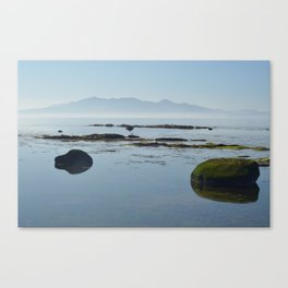 Isle of Arran across the Firth of Clyde Canvas Print