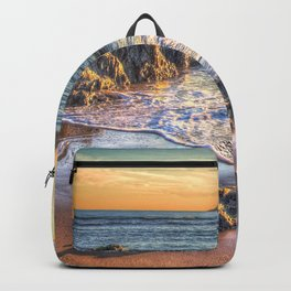 Sunset over Burgh Island from Bantham Backpack