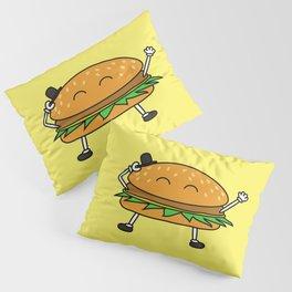 Burger with Hat Pillow Sham