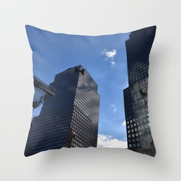 Manhattan Reflections Throw Pillow