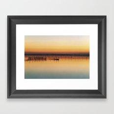 Sunset in Venice Lagoon Framed Art Print