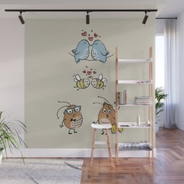 Educated fleas:) (Let's Fall In Love) Wall Mural