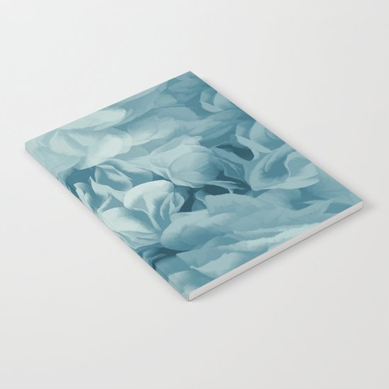 Soft Baby Blue Petal Ruffles Abstract Notebook