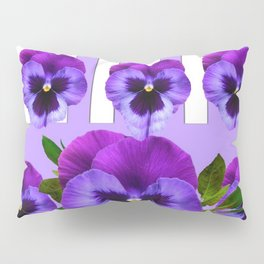MODERN LILAC & PURPLE PANSY FLOWERS ART Pillow Sham