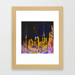 The Influencers Urban Totems Framed Art Print