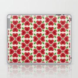Christmas Heart Flowers Laptop & iPad Skin