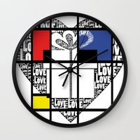 valentines Wall Clocks featuring valentines by FeryalSurel