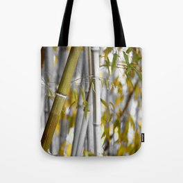 Bambuswald abstrakt Tote Bag