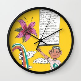 I AM GROWING Wall Clock