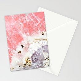 GOLD FLECKED ROSE QUARTZ Stationery Cards
