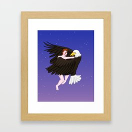 Making Love With His Eagle Framed Art Print