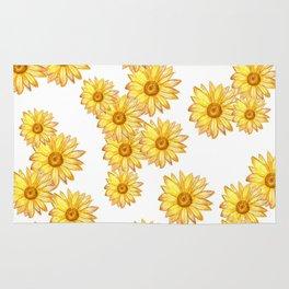 golden daisy maze Rug