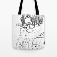 shingeki no kyojin Tote Bags featuring Levi // Shingeki No Kyojin by BucketsofBroke