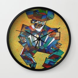 The Accordionist Wall Clock