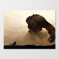 shadow of the colossus Canvas Prints featuring shadow of the colossus by thimblings