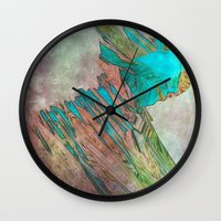 bond Wall Clocks featuring crystal bond by Stephen Leafriver