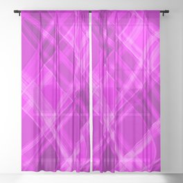 Swirling pink ribbons with a pattern of light graceful stripes.  Sheer Curtain